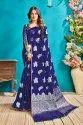 Silver Zari Banarasi Silk Saree