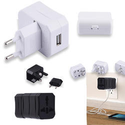 USB Travel Adapter with Case