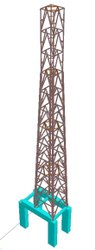Steel Online Lattice Tower Structure Designing Service, in Pan India