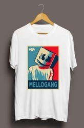Mens Round Neck Marshmellow Selfie T Shirt