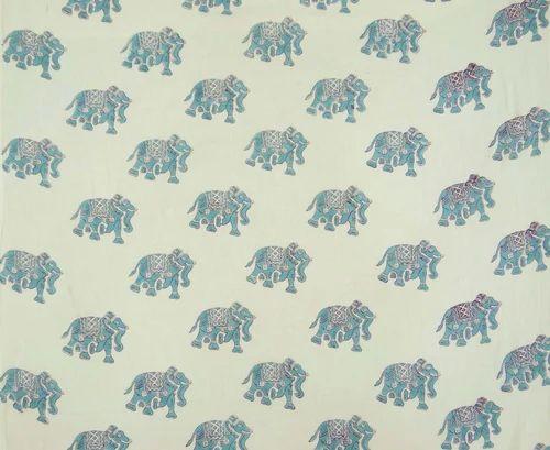 5771c70ec409 Elephant Print Cotton Hand Block Printed Fabric