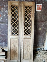 Sagwan door Finished Wooden Temple Doors, For Home