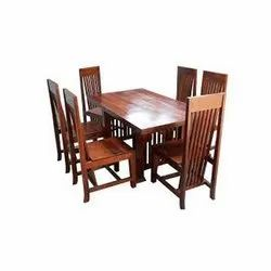 Brown Modern Wooden Dining Table Set, for Home