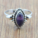 925 STERLING SILVER JEWELRY AMETHYST GEMSTONE HANDMADE RING WR-5027