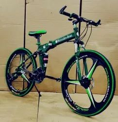 Green Mercedes Benz Fat Tyre Foldable Cycle