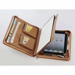 TAN iPad Case with Card Holder, Size: Large, Model Name/Number: SLC-IPC-01