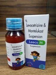 Levocetirizine Dihydrochloride I.P. 2.5 mg Montelukast Sodium I.P. 4 mg (Susp.) with Carton