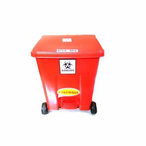 Red Open Top Folly Well Wheel Barrow Dustbin