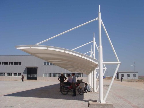 Tensile Fabric Car Parking Cantilever Structure