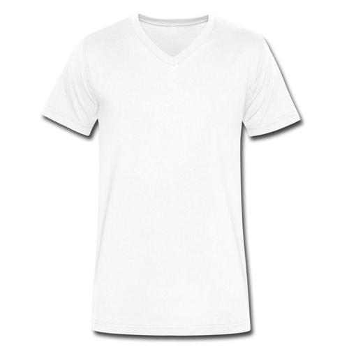 2b0f38c799aa White Plain Mens V Neck T- Shirt