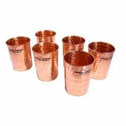 Hammered Round Copper Glass Set, Capacity: 30 Ml