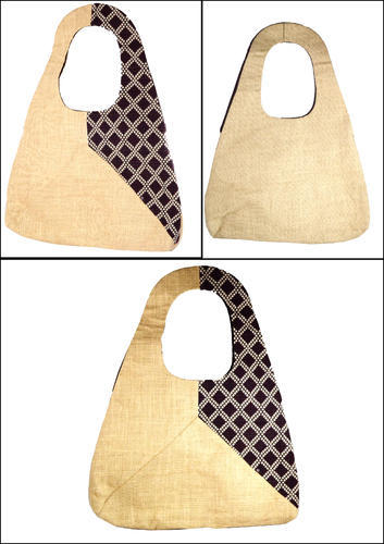 Brown Designer Jacquard Bag, Size: 16x12x4 Inches