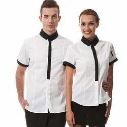 Polyester Cotton Hotel Waiter Staff Uniform