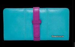 Fastrack Women Leather Blue Wallet