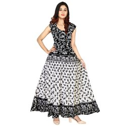 Printed Cotton Ladies Dresses Apparels