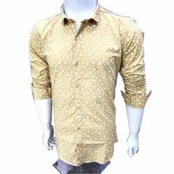 Mens Printed Casual Shirt, Size: M, L & XL