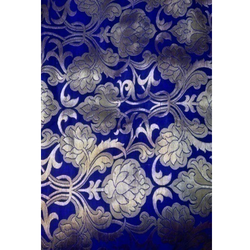 Embroidery Blue Kamkhwab Work