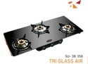Sun Safe / Kitchen Safe Multi-colour Tri Glass Air Su-3b-358