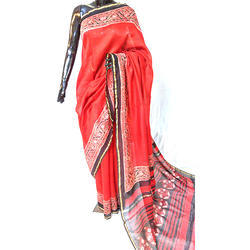 Chandari silk saree