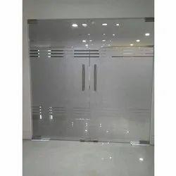 Hinged Toughened Glass Door