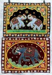 Zardosi Wall Elephant Hanging