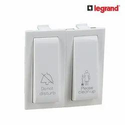 White Legrand Britzy 2 Module DND Internal Unit Electrical Switch, 230-240 V