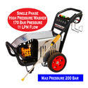 Single Phase High Pressure Washer 170 Bar (Max 200 Bar)
