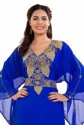 Algerian Maxi Dress Hand Embroidered Farasha