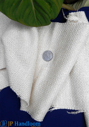 White Thick Raw Matka Silk Fabric