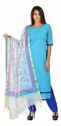 Chanderi Dress Material with Dupatta