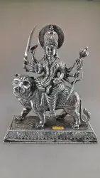 Silver Durga Mata Statue