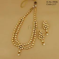 2 Line Kundan Necklace Set