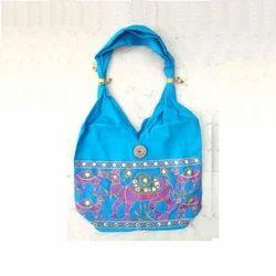 Blue Canvas Handmade Cotton Bags