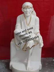 Sai Baba Idol from White Marble