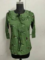 Cotton Printed Ladies Top