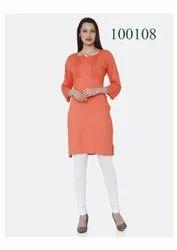 Fancy Cotton Plain Kurti By Parvati Fabric