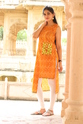 Cotton Straight Lehriya Print Kurti