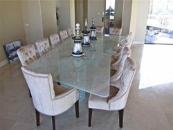 Glass Top Restaurant Table & Chair