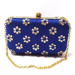 Ladies Embroidery Box Clutch