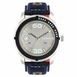 Fastrack Grey Dial Blue Denim Strap Watch