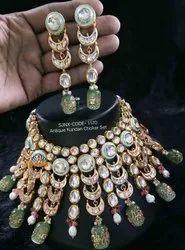 Designer Kundan Necklace Set For Women Fashion