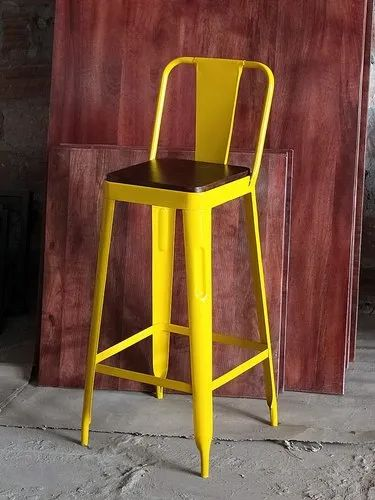 Swell Metal Bar Stool With Back Machost Co Dining Chair Design Ideas Machostcouk