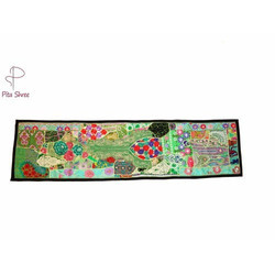 Multicolor Patch Work Rajasthani Runners, Size: 12x60 inch