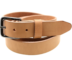 Brown Plain Leather Belt