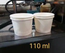 110 ML White Plain Disposable Cup, Packaging Type: Carton, Packet Size: 100