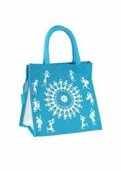 Printed Jute Lunch Bags