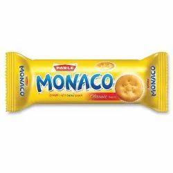 Salty Parle Monaco Biscuit, Packaging Type: Packet, 75.4 Gm
