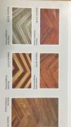 Herringbone Laminated Wooden Flooring, Finish Type: Matte