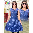 Ladies Denim Frock