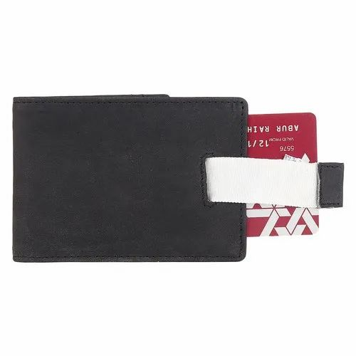 7dd43753575b RFID Blocking Slim Bifold Leather Thin Minimalist Front Pocket Wallets for  Men